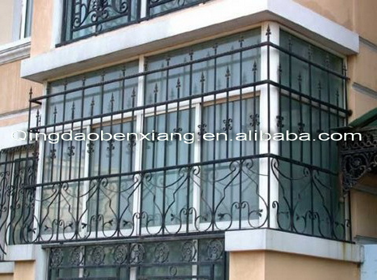 China Modern Iron Window Grill Design China Steel Security Windows