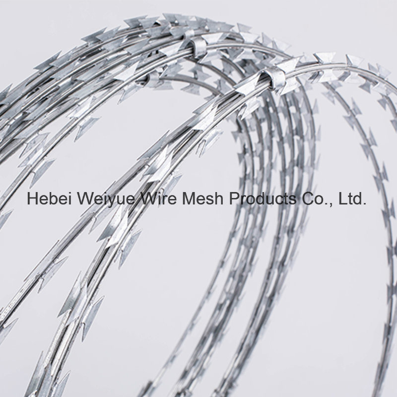 China Wholesale Razor Barbed Steel Wire with Clips Barbed Wire ...