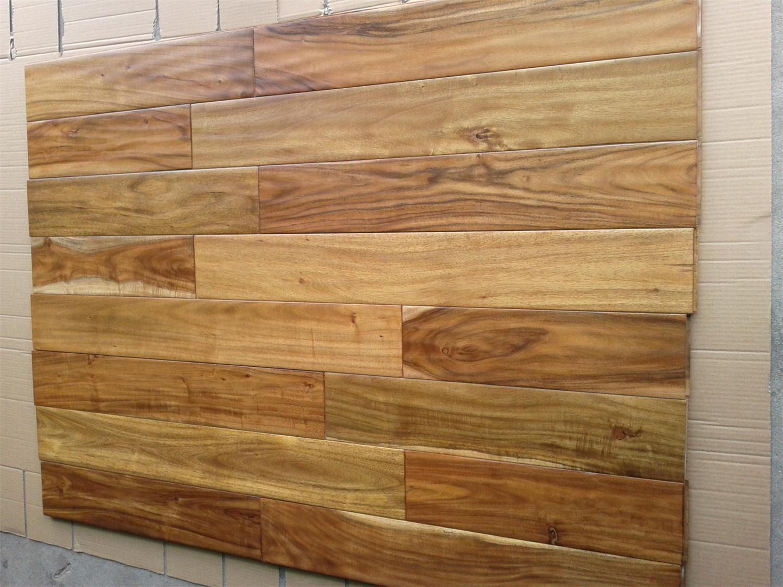 China Handsed Black Walnut Stain Small Leaf Acacia Wood Flooring Engineered