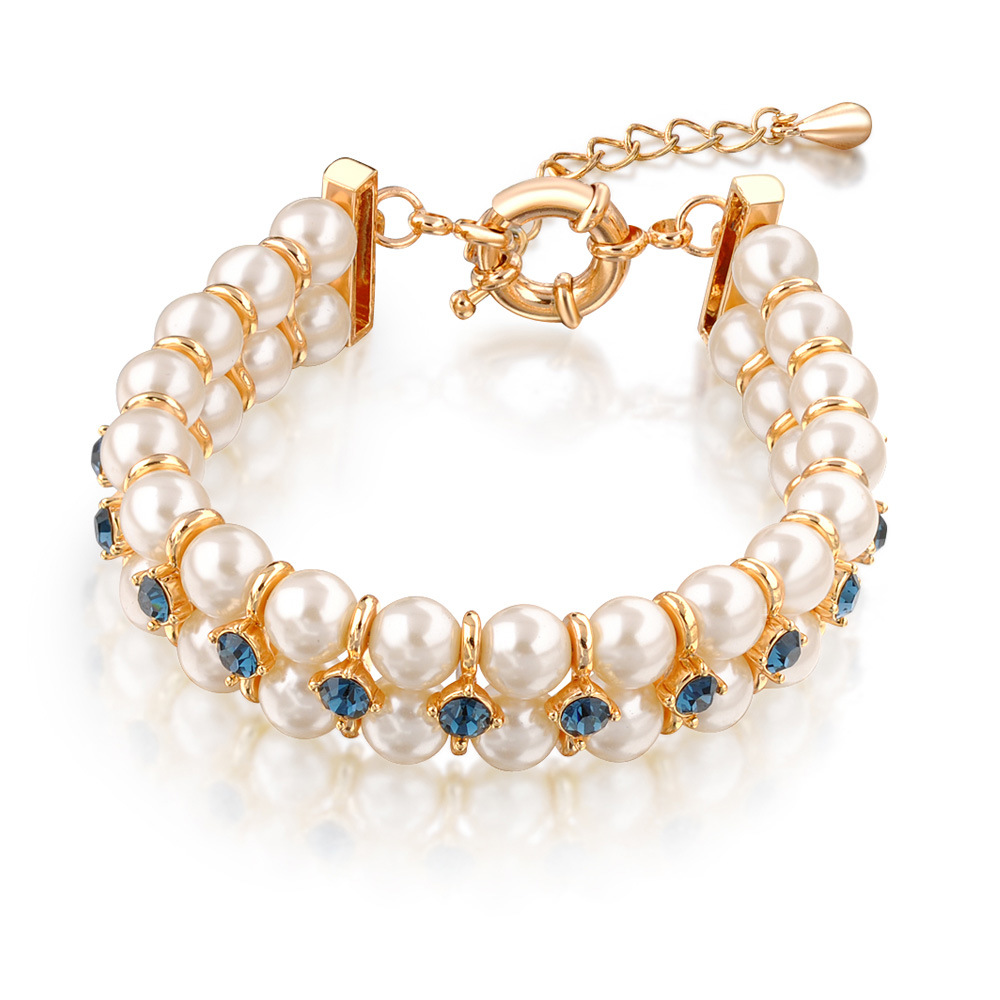 china wedding engagement gift crystal pearl jewelry dubai gold