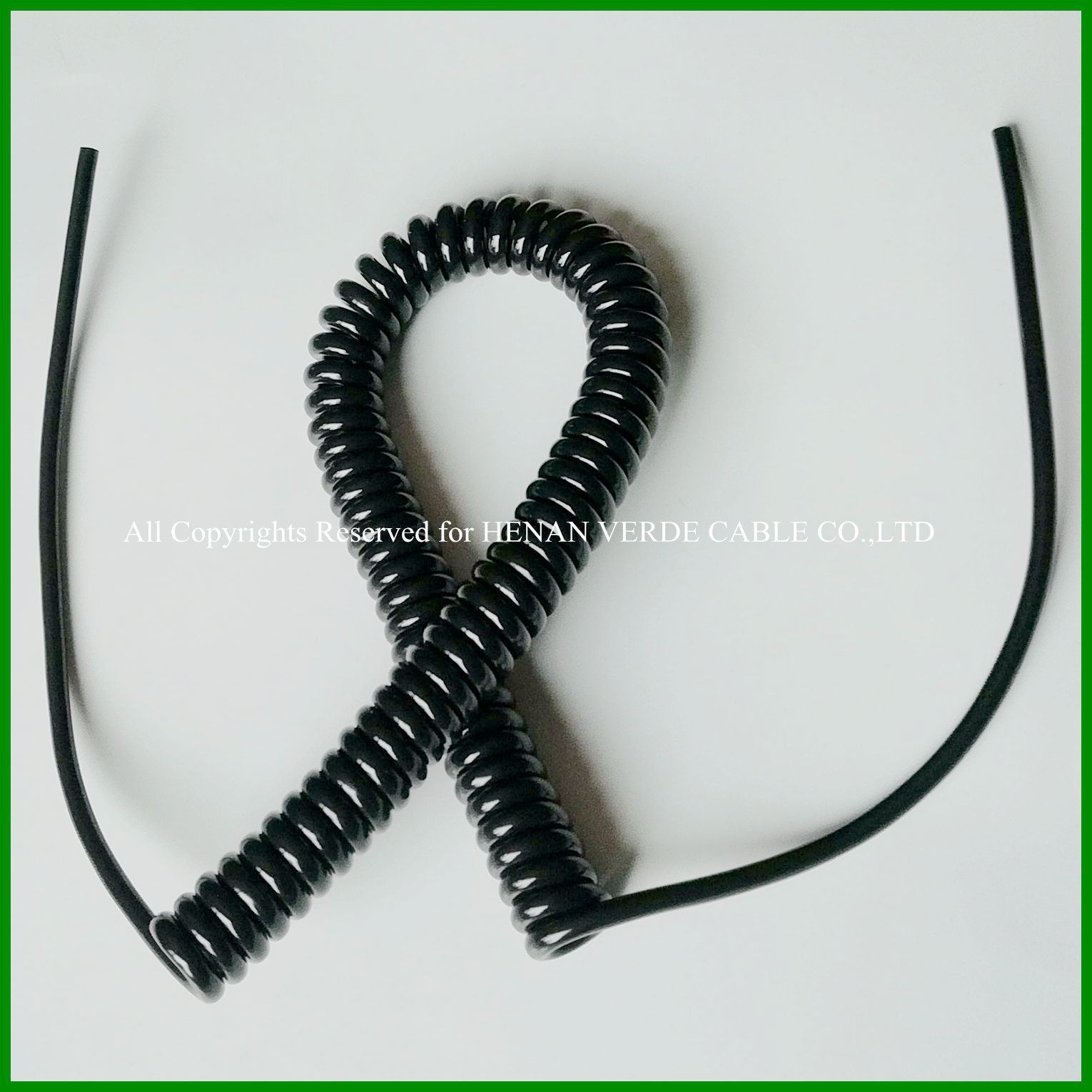 China Water Uv Resistant Flexible Wire Coiled Spring Cables Spiral Pvc Copper Electrical Cable
