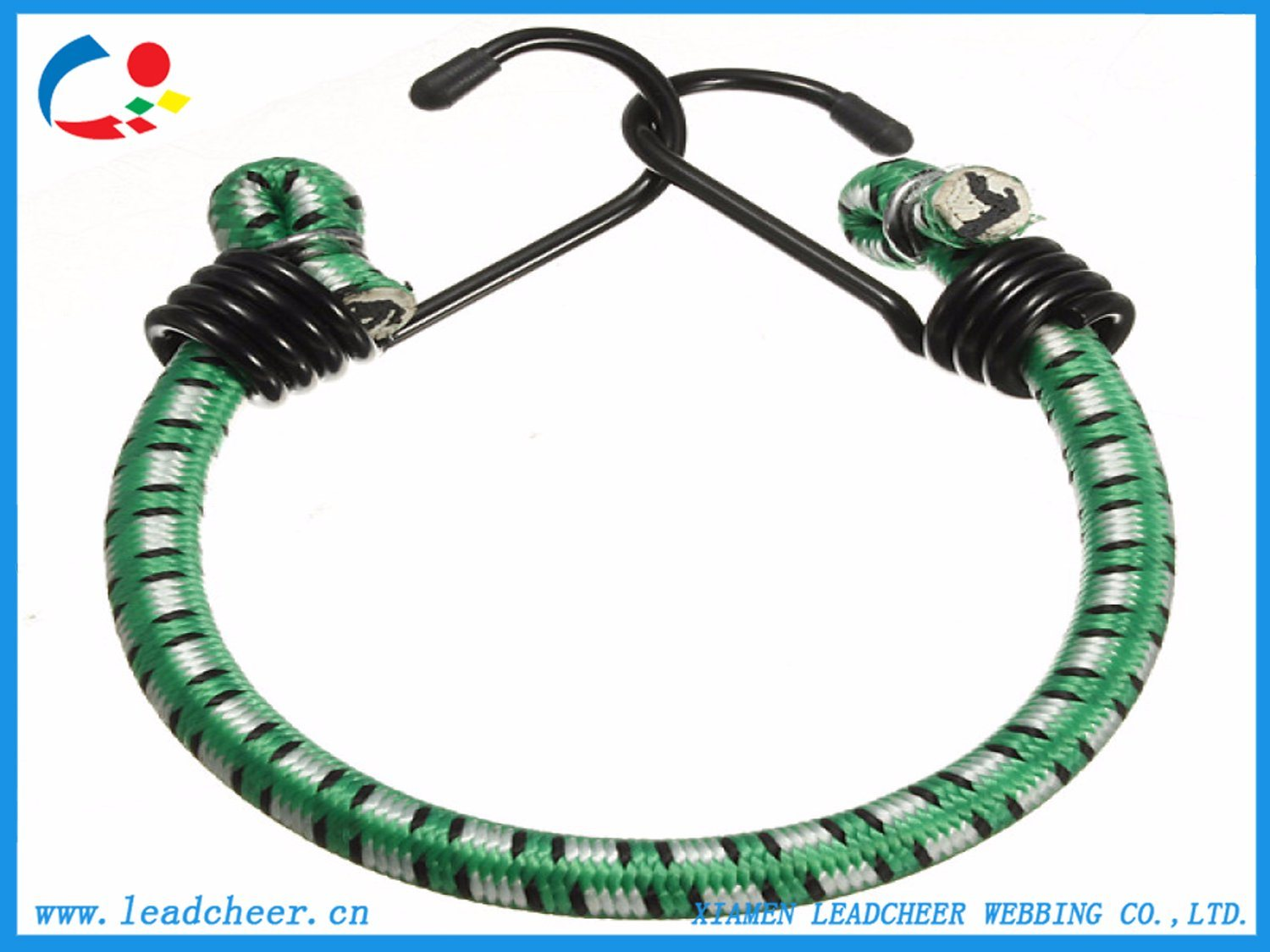 China Braided Round Elastic Bungee Cord With Plastic Metal Hook