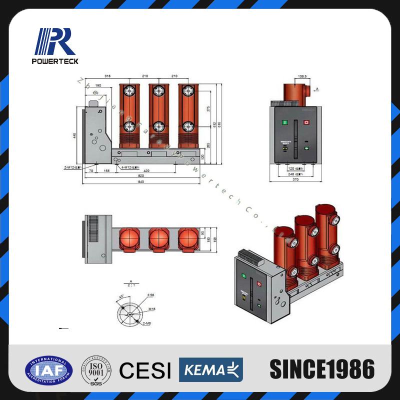 Hot Item Vd4 S 20kv 630a 20ka Lateral Type Vacuum Circuit Breaker