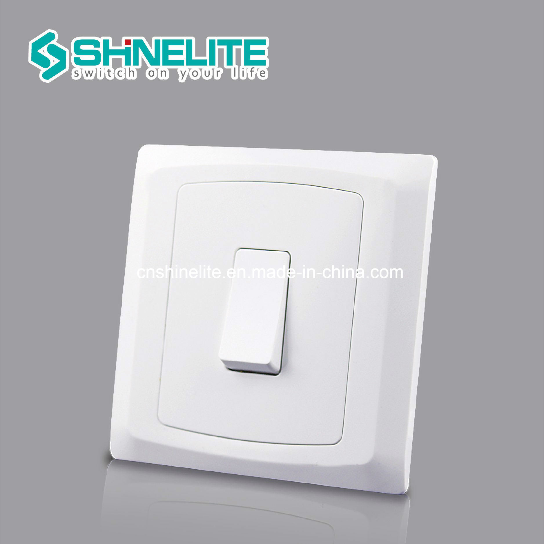 China Good Look 10A BS Wall Switch 1 Gang 2 Way OEM - China Light on ...