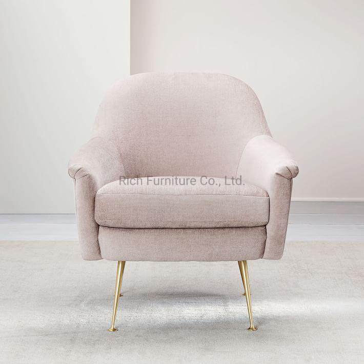 Enjoyable Hot Item Modern Chair With Metal Leg Fabric Linen Cover Golen Leg Hotel Chair Creativecarmelina Interior Chair Design Creativecarmelinacom