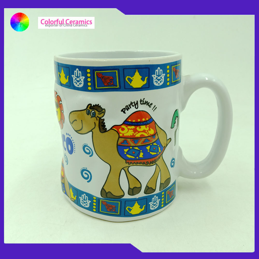 China Dining Room Essentials Coffee Mugs 3d Embossed 330 Ml Porcelain Water Mug China 3d Embossed Mug And Dining Room Coffee Mugs Price