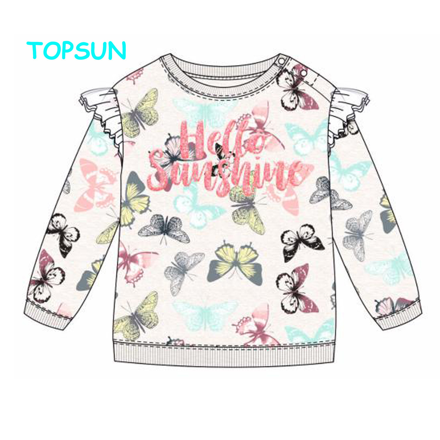 Baby Girls Floral Design T-shirts Children/'s Casual Long Sleeve Tops Sweatshirts