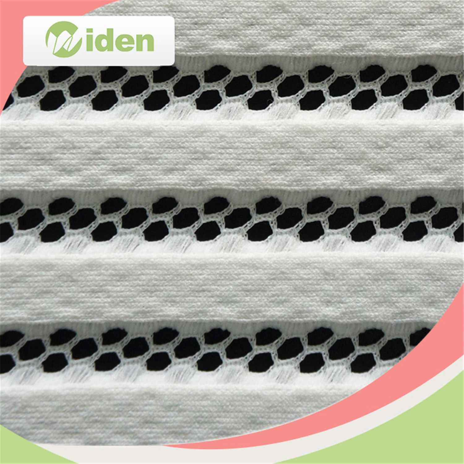 100% Polyester White Jacquard Knitting Wholesale Lace Fabric