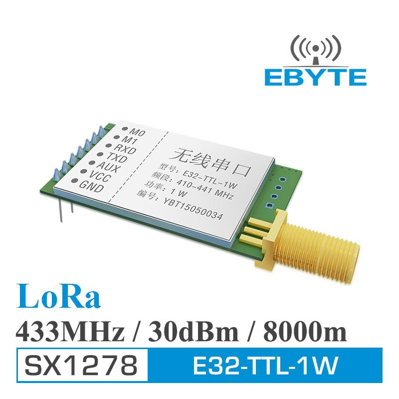 [Hot Item] Ebyte E32-Ttl-1W 7500m 1W Sx1278 Sx1276 Lora 433MHz Long Range  RF Transceiver Module
