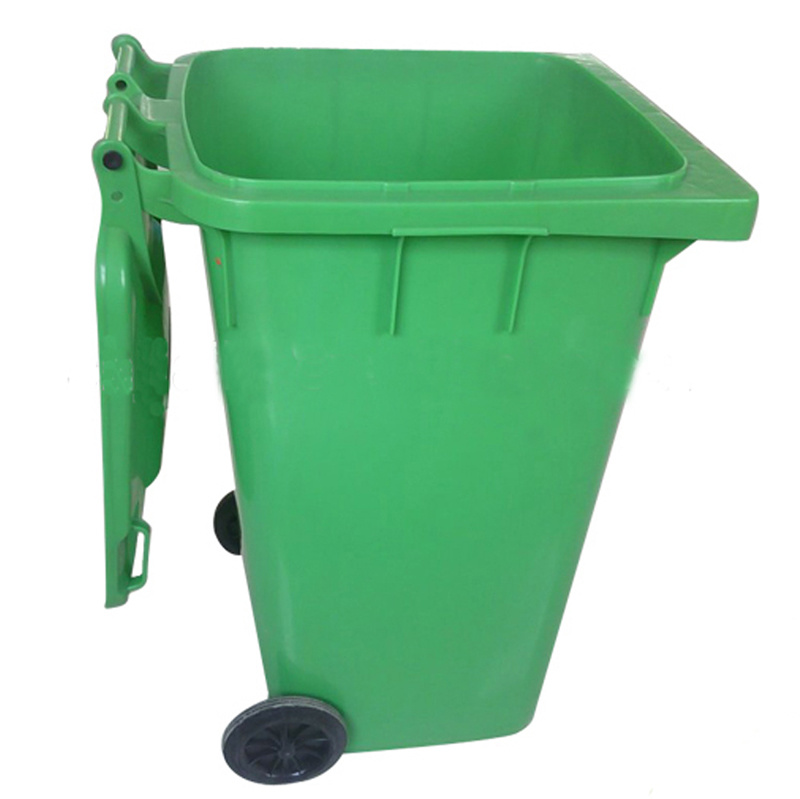 2017 Hot Sale Square Rubbish Bin with Wheels
