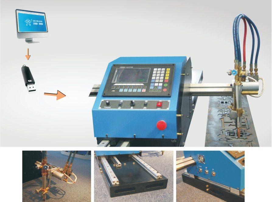 China portable sheet metal CNC plasma and oxy-fuel cutting machine ...