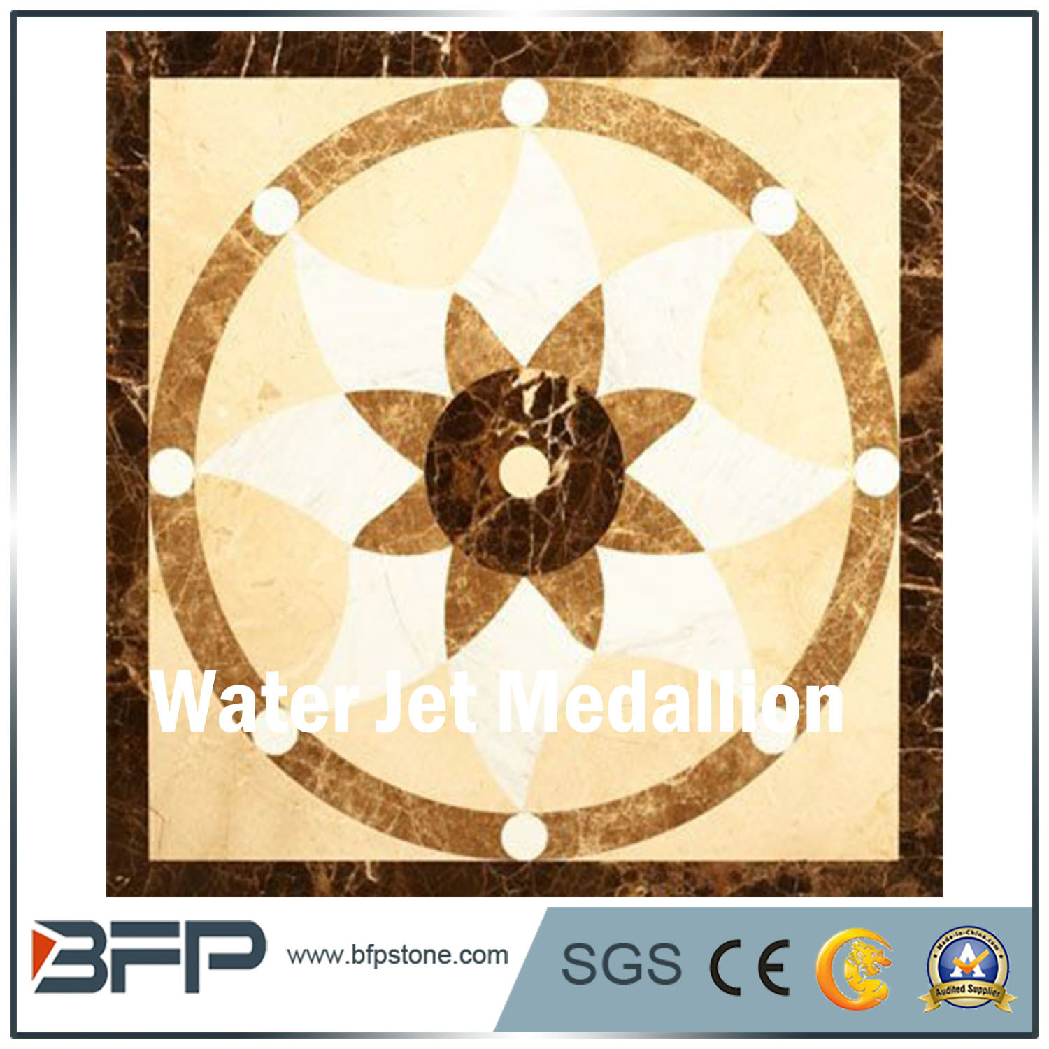 China Cheap Flower Design Water Jet Marble Tile Floor Medallions From China Photos Pictures Made In China Com