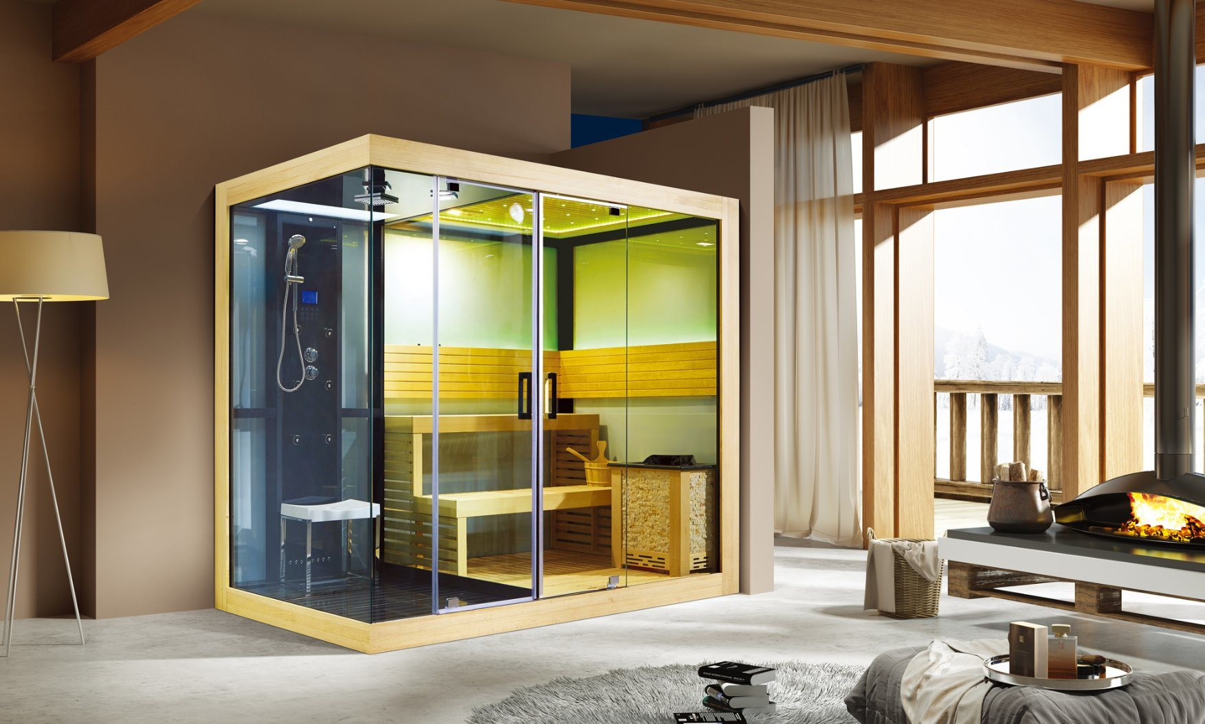 Steam Shower Sauna Combo