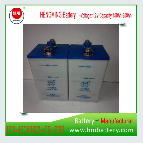Nickel Cadmium Battery Ni-CD Battery Alkaline Battery 1.2V 200ah for Sale