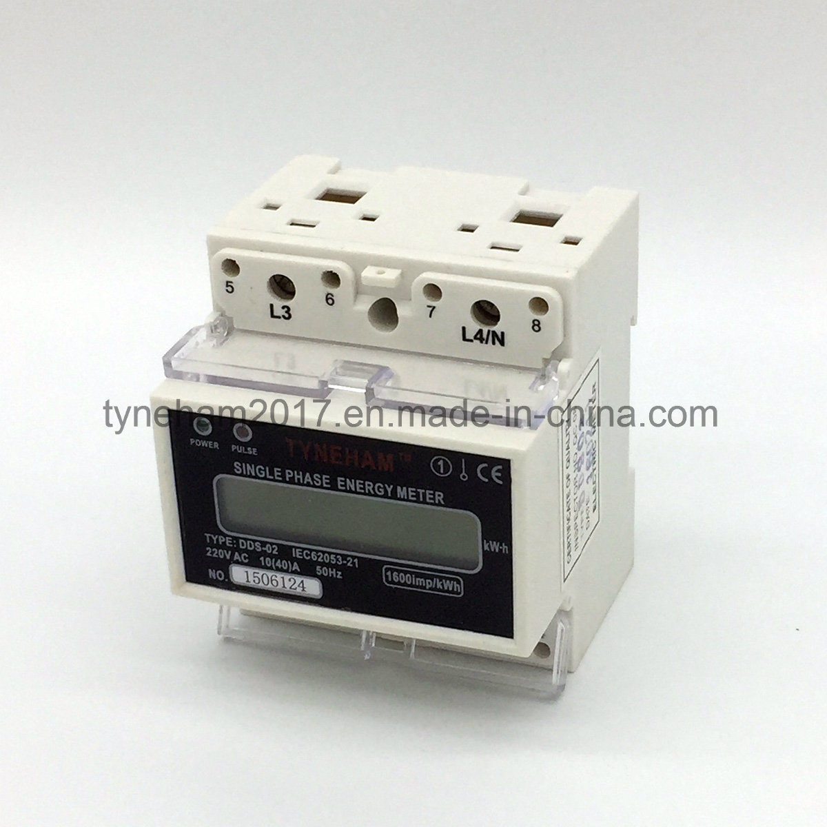 China Dds 5l Single Phase Din Rial Kwh Meter Wiring Diagram Energy