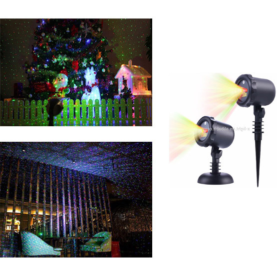 Red Green Outdoor Laser Christmas Lights /Waterproof Garden Landscape Laser Projector