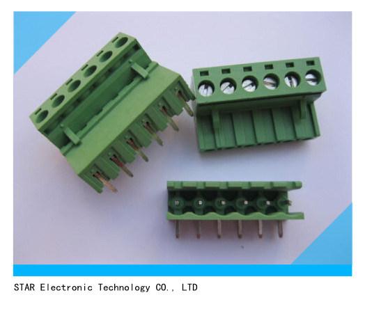 [Hot Item] 5 08mm 6 Pin 9pin Screw Terminal Block Connector Pluggable Type