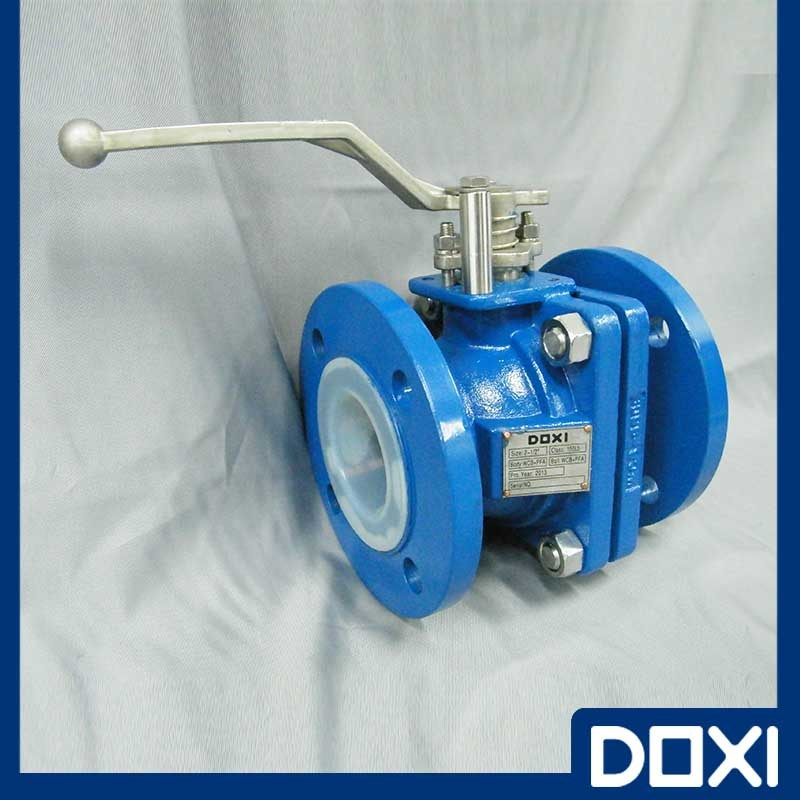 Teflon PTFE PFA FEP Lined Ball Valve for Chemical Industry pictures & photos