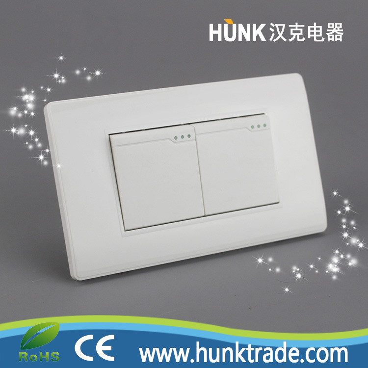 China Us Power Two Gang One Way Electrical Panel Key Switches ...