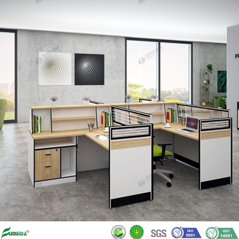 [Hot Item] Office Furniture Outlet Staff Computer Desk Office Partition  Wood Office Workstation