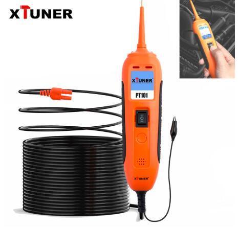 [Hot Item] Xtuner PT101 Circuit Tester 12V/24V Car Battery Tester DC/AC  Power Probe Electrical System Diagnostics Tool OBD2 Scanner