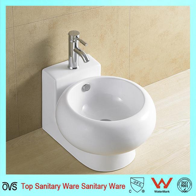 . Hot Item  Popular Design Bathroom Modern Simple Wall Hang Wash Basin