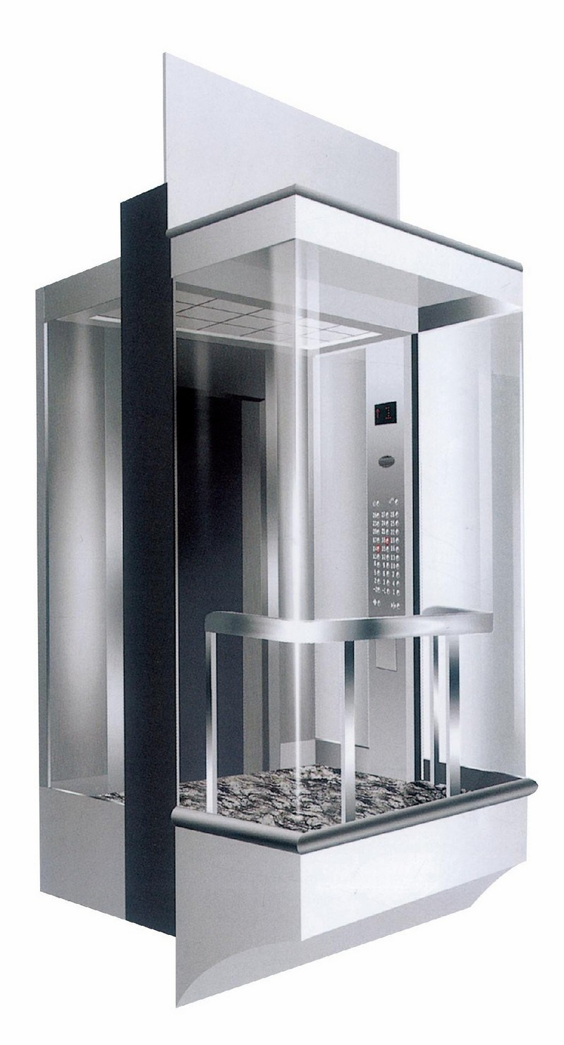 [Hot Item] Panoramic Elevator with 800kg Square Cabin (LL-021)