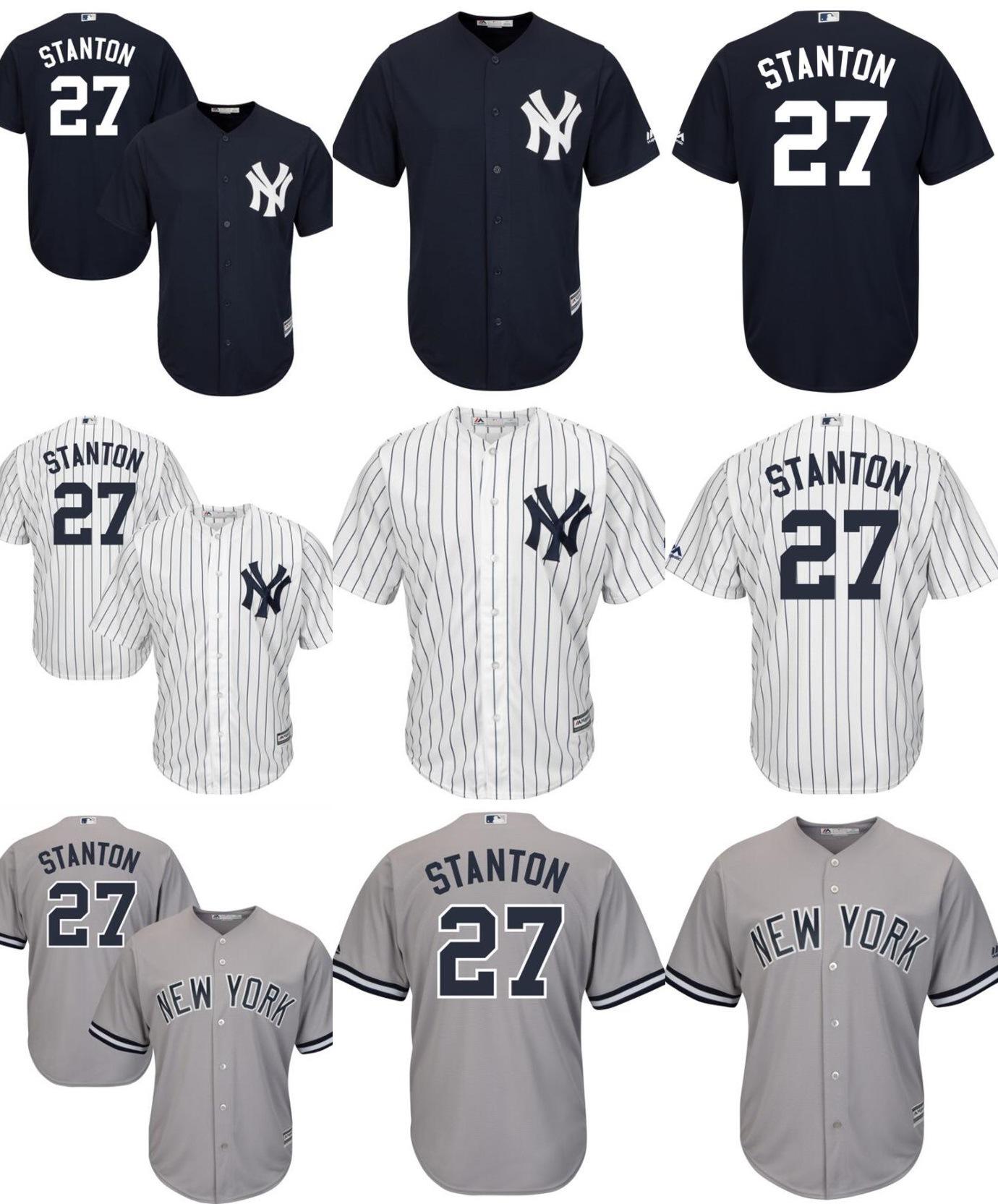 low priced 121f3 318c8 [Hot Item] New York Yankees Giancarlo Stanton Cool Base Baseball Jerseys