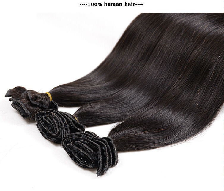 China 2018 Hot Sell Clip In Straight Hair Brazilian Virgin Clip In