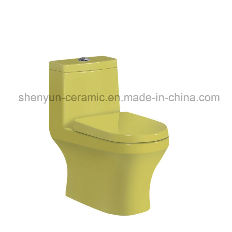 Ceramic Toilet One-Piece Color Toilet S-Trap (A-022)