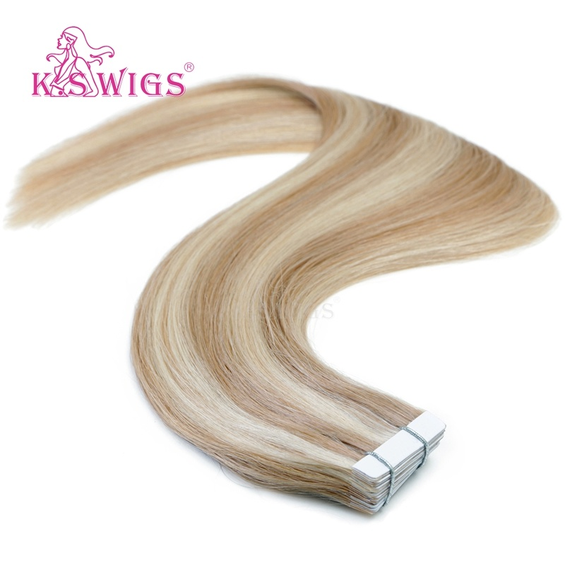 China K S Wigs 2017 New Arrival Best Quality Tape Hair Human Hair