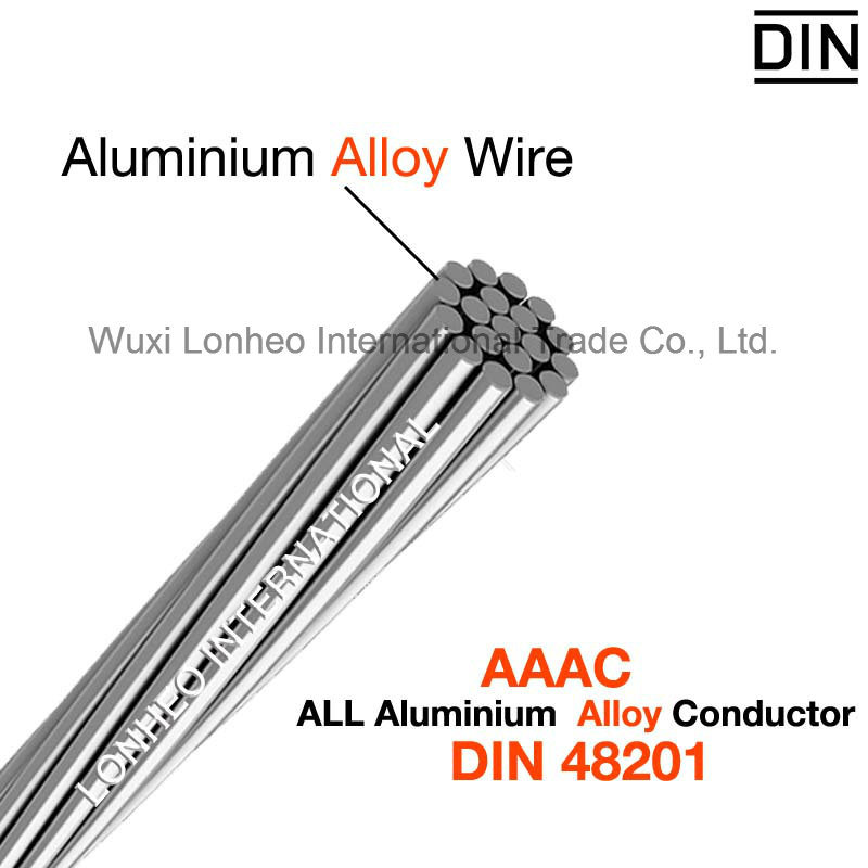 china aaac-all aluminum alloy conductor din 48201  aaac conductor 240mm2