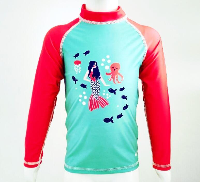 8cc6f34c282fb Polyester Printed Kid′s Long Sleeve Rash Guard & Sportswear & Swimsuit