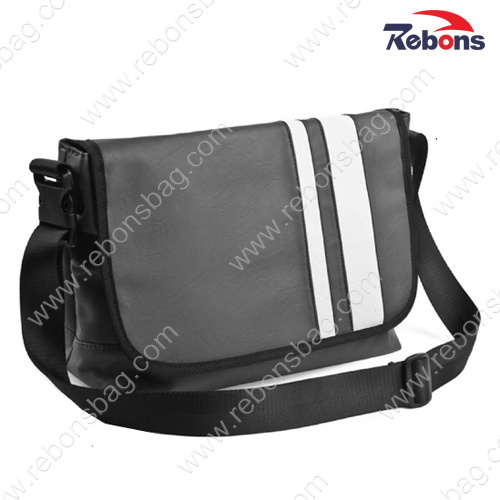 Custom PU PVC Leather Sling Shoulder Cross Body Messenger Bags for Men pictures & photos