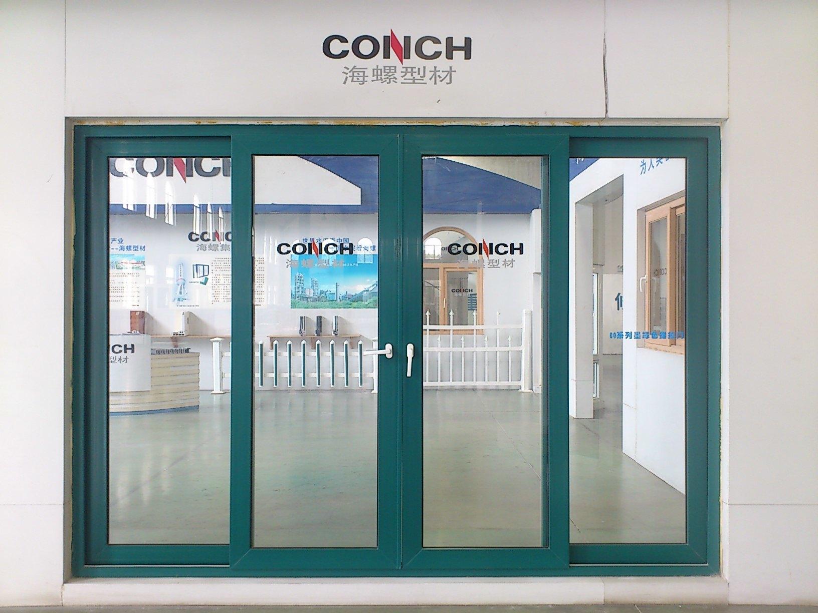 China Conch 60mm Upvc Sliding Door For Balcony Garden And Etc Photos