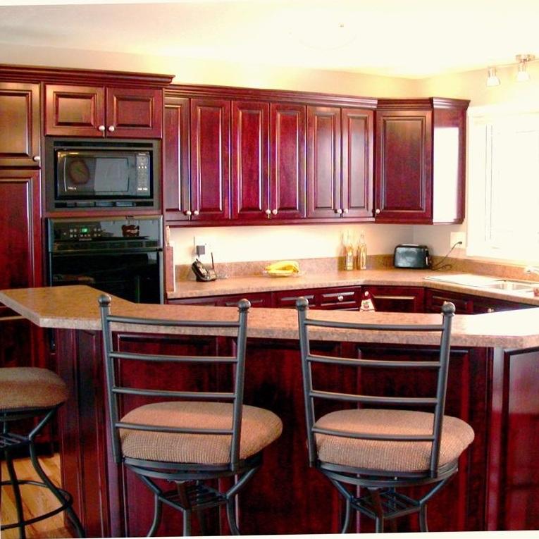 [Hot Item] Closet Cabinet Design Cherry Wood Kitchen Cabinets Sale