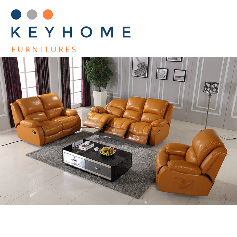 New Hot Leather Sofa Set With 1 2 3 Seater