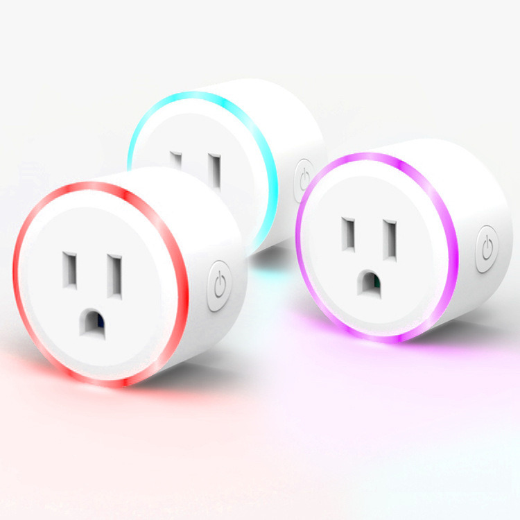 China Mini RGB Smart Plug Outlet Work with Amazon Alexa