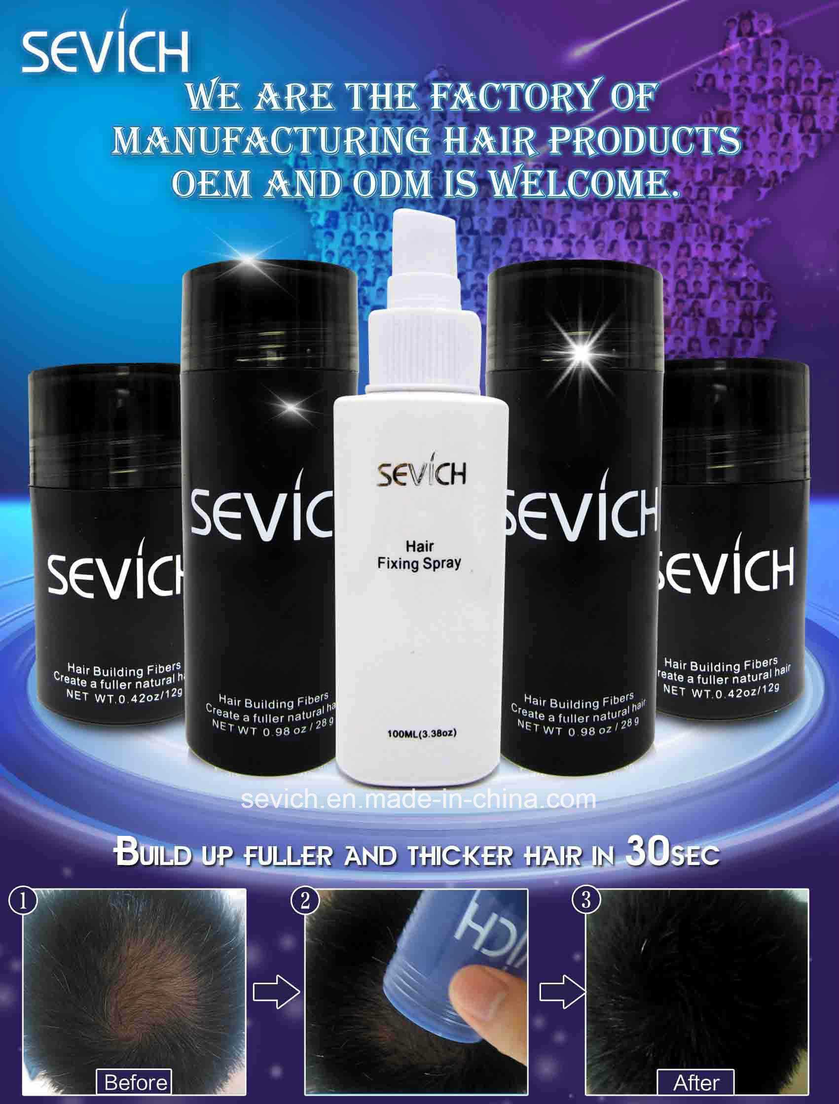 Sevich Good Quality Hair Building Fibers Anti Hair Loss
