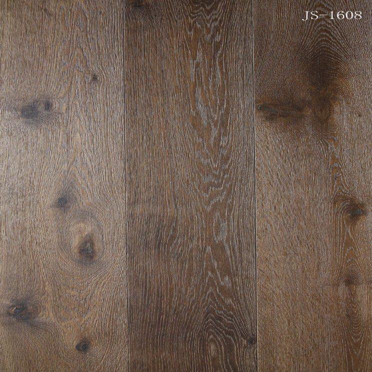 China Dark Color Engineered Oak Parquet Wood Floorwooden Floor