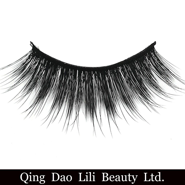 China Private Label 3d Korean Silk False Eyelashes Faux Mink Strip