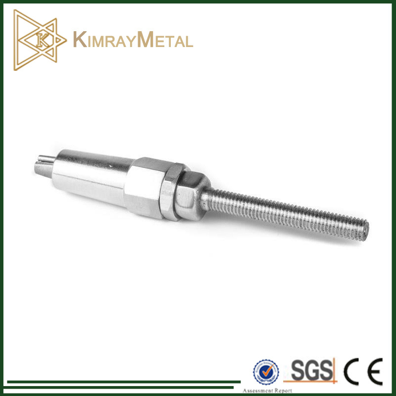 China AISI316/304 Stainless Steel Swageless Wire Rope Stud Quick ...