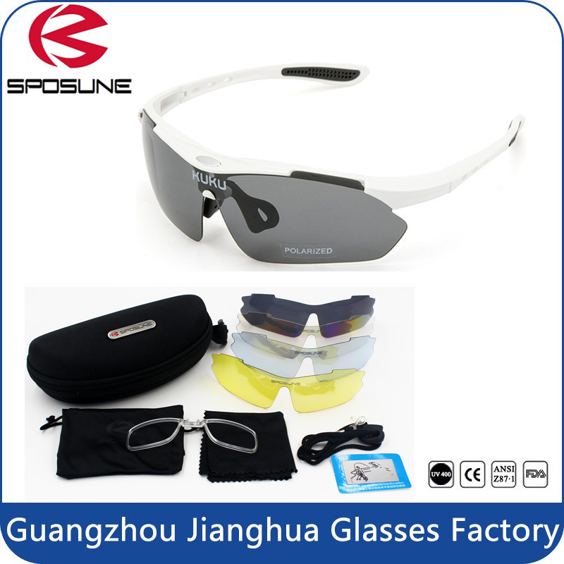 Multi Sport Sunglasses Polarized Outdoor Sport Eyewear with 5 Spare Interchangeable Lenses Mirrored