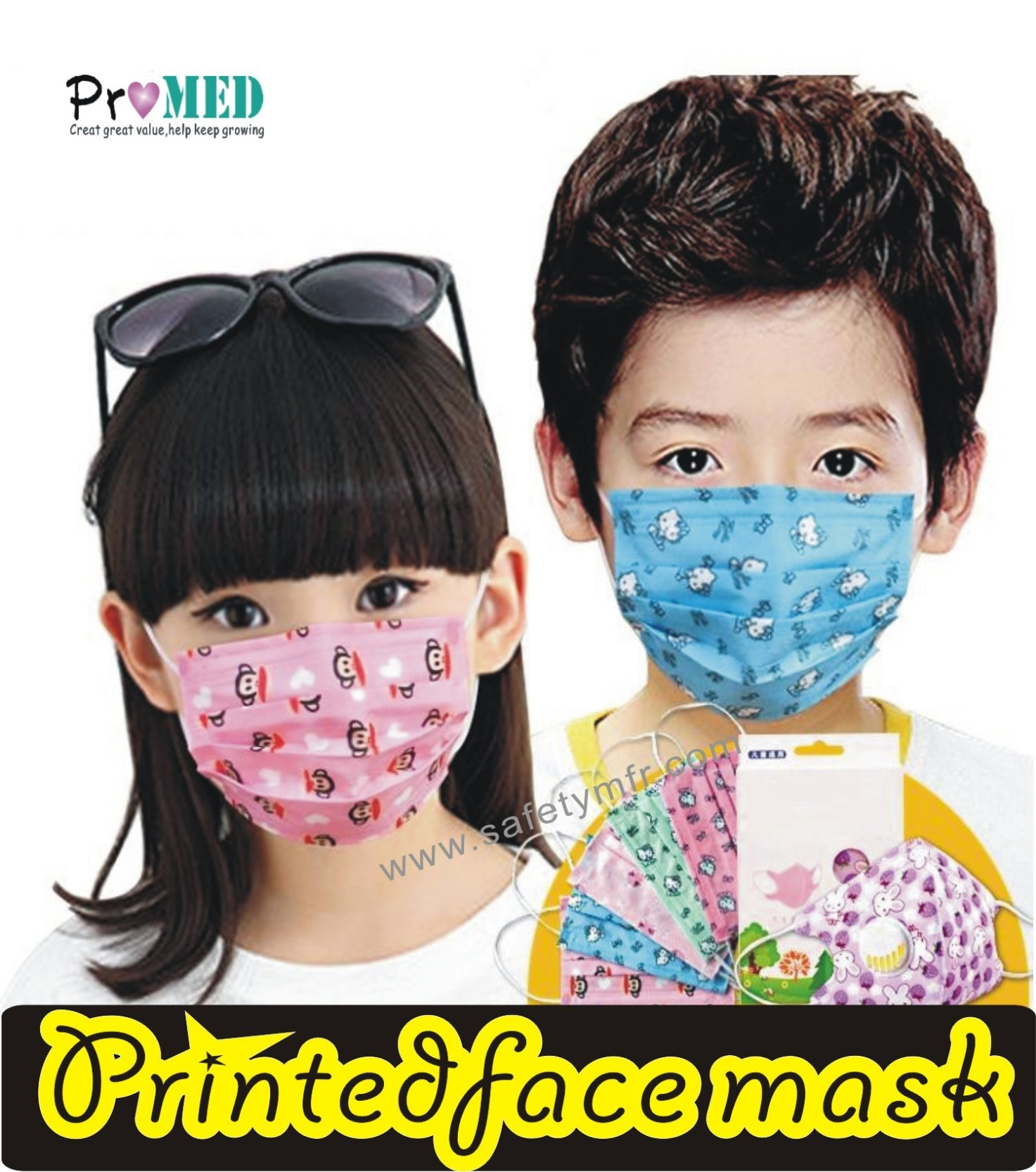 With Nonwoven child kid Face China kids Mask Children baby Printed