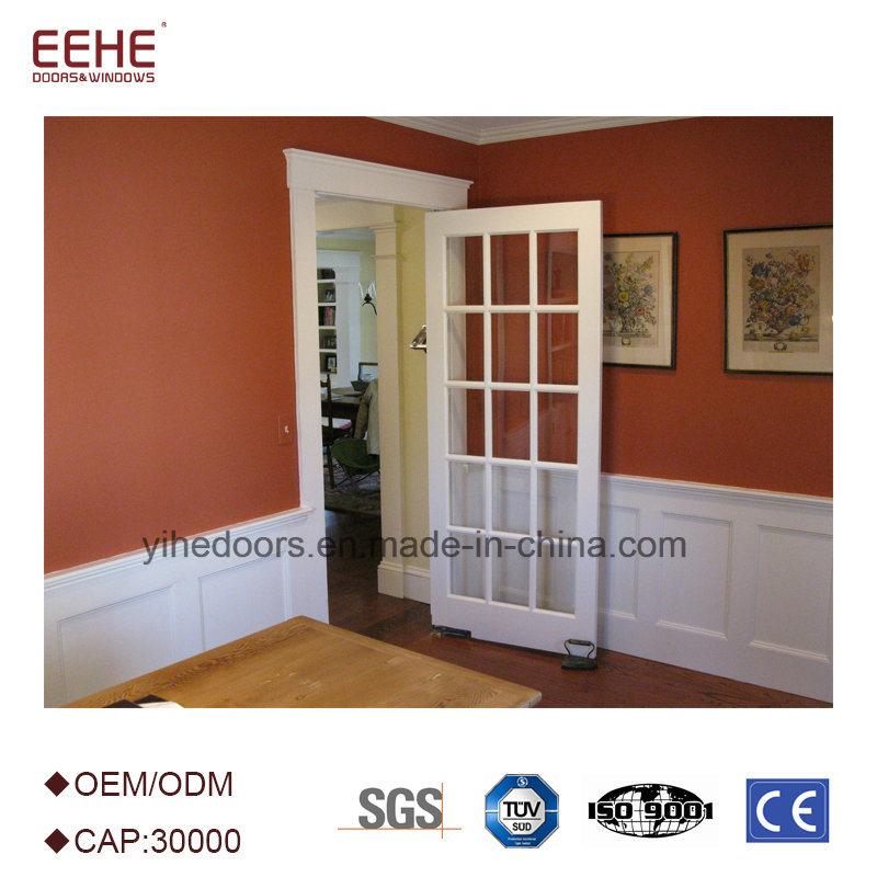 China Aluminum French Exterior Main Door With Tempered Glass Photos