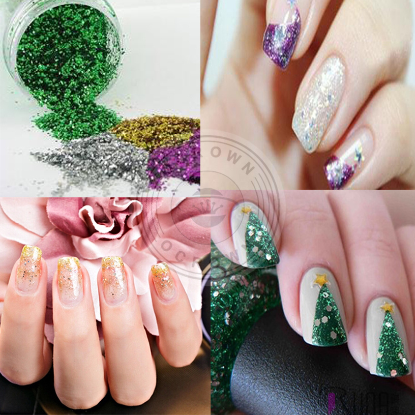 China Aluminum Nail Flakes Sequins Powder Glitter for Nail Art ...