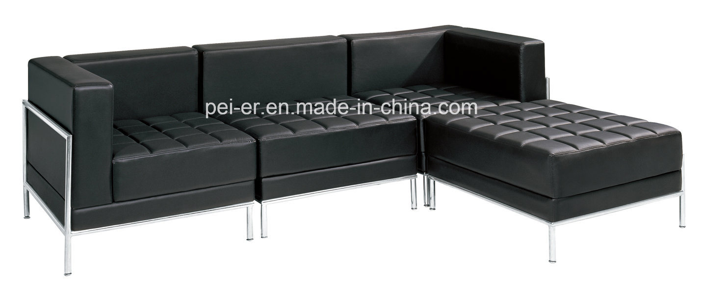 [Hot Item] Sofa Furniture Office Living Room Sectional Corner Leather Sofa  (F83)