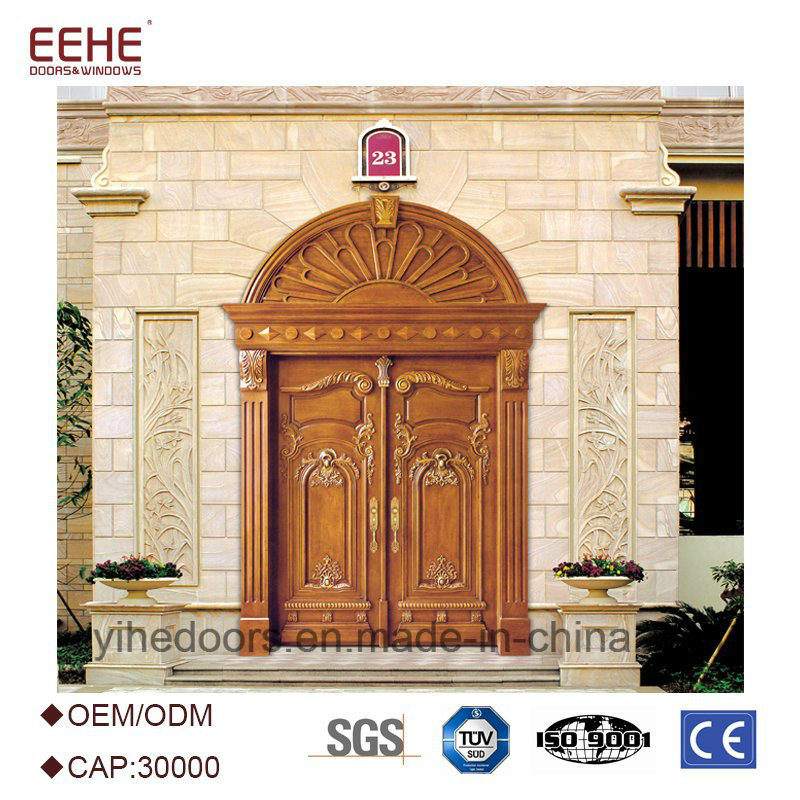 China Wood Exterior Doors Teak Wood Double Door Design Wooden Main