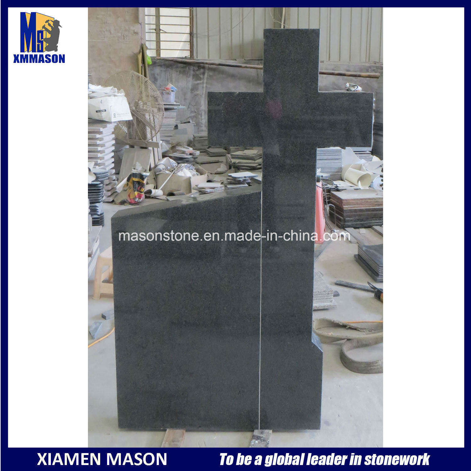 Cheap Chinese G654 Granite Cross Headstone for Romania pictures & photos