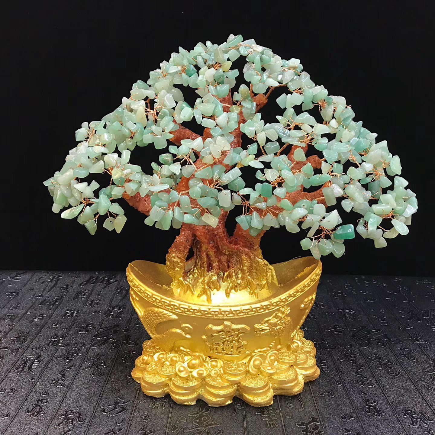 China Natural Clear Dongling Chip Gemstone Bonsai Tree For Feng Shui Photos Pictures Made In China Com